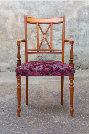 Vintage Mahogany Chair isolated on white background