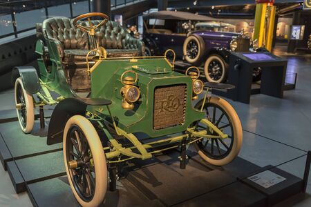 RIGA, LATVIA-February 18, 2019: 1905 REO Model B in the Riga Motor Museum Editoriali