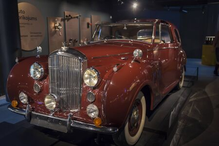 RIGA, LATVIA-February 18, 2019: 1946 Bentley in the Riga Motor Museum