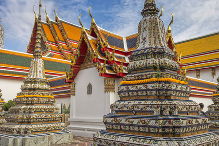 Wat pho is the beautiful temple in Bangkok, Thailand.