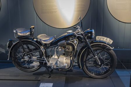 RIGA, LATVIA-February 18, 2019: 1943 BMW R35 in the Riga Motor Museum