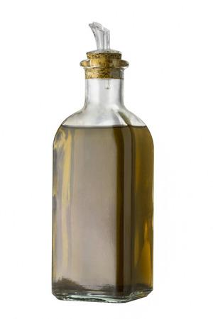 Olive oil bottle. Isolated on white background