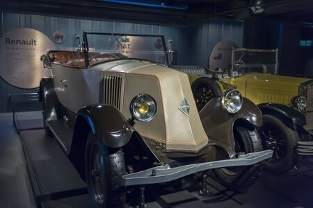 RIGA, LATVIA-February 18, 2019: 1903 Renault 10 CV in the Riga Motor Museum
