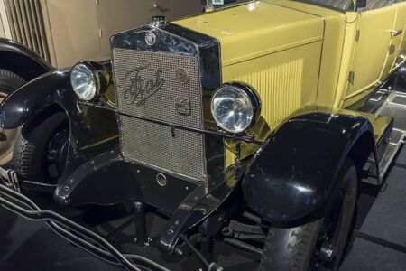 RIGA, LATVIA-February 18, 2019: 1926 Fiat 503 Torpedo in the Riga Motor Museum