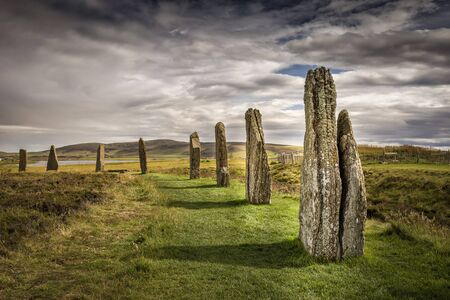 Ring Of Brodgar, Orkney, Scotland. A neolithic stone circle and henge