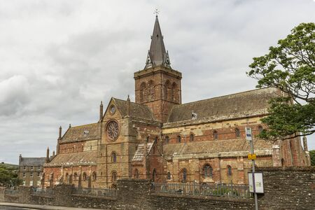 Saint Magnus Cathedral in Kirkwall in the Orkney Islands of Scotland.