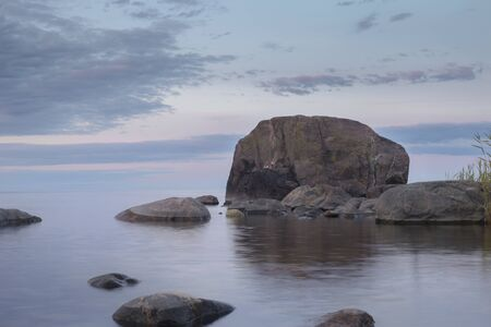 The Gulf of Finland, Estonia.Wild rocky coastline of the Baltic sea