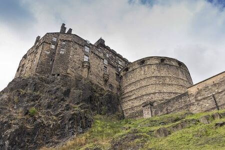 Looking up the hill at Edinburgh Castle.