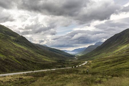 Valley view below the mountains of Apllecross, HIghlands, Scotland