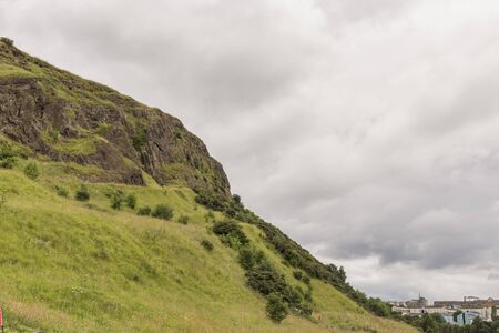 View of Arthur's Seat in Holyrood Park in Edinburgh, Scotland, UK