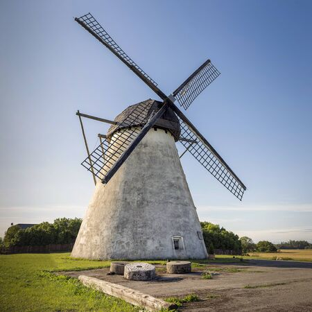 Ancient traditional windmill on the Seidla, Estonia