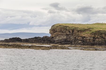 Orkney Islands coastline during a summer day, Scotland.