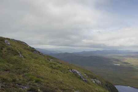 Panoramic view of Loch Ness from Meall Fuar-mhonaidh Archivio Fotografico - 137414370