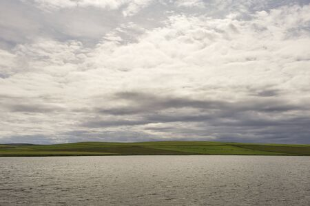 Orkney Islands coastline during a summer day. The Orkney Islands are part of Scotland. Archivio Fotografico
