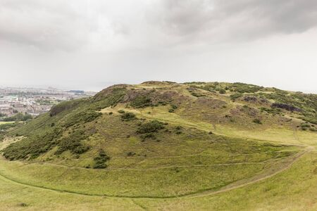 View of Arthurs Seat in Holyrood Park in Edinburgh, Scotland