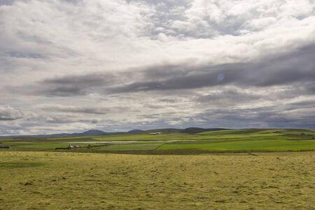Orkney Islands coastline during a summer day, Scotland.