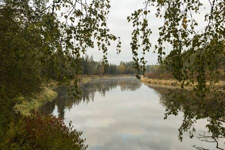 European outdoors scenery with river Gauja in Gauja National Park