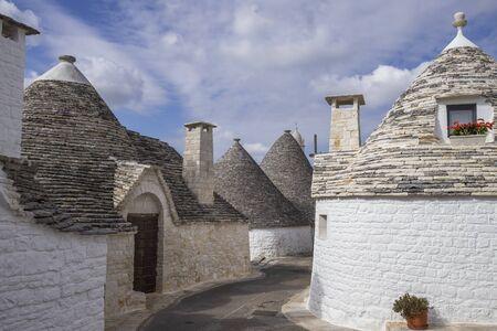 Roof stones trulli of Alberobello. Puglia, southern Italy.