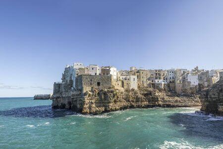 Scenic sight in Polignano a Mare, Bari Province, Apulia, southern Italy.