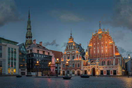 Blackheads House and St. Peter's Lutheran Church , Riga, Latvia