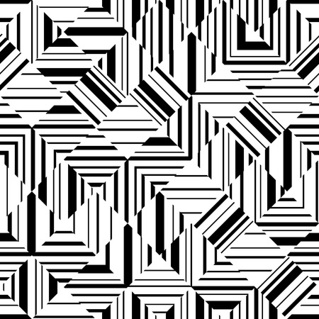 fabric design: Black and white geometric seamless pattern. Abstract background without seams. Can be used for printing on fabric, web design, wallpaper etc.