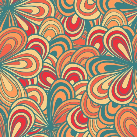 copied: Abstract floral hand-drawn seamless pattern. Vector illustration can be copied without any seams. Illustration