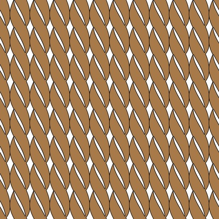 measured: Vector seamless pattern. Stylish background. Texture with simple brown ropes.
