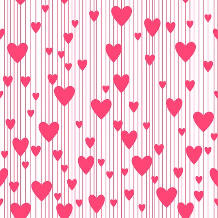 copied: Abstract hearts pattern, vector background. Seamless pattern. Vector illustration that can be copied without any seams. Good for Valentines Day cards and other design. Illustration
