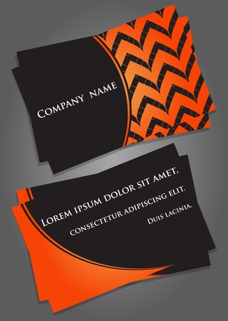 Business Card Template. Visiting Card In Black And Orange. Vector ...