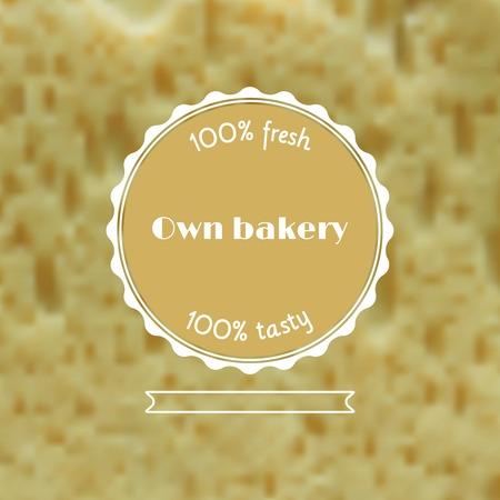 pain frais: Vecteur pain frais illustration floue. Web et mod�le d'interface mobile. Design element. R�aliste fond de la nourriture.