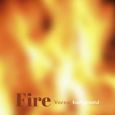 unfocused: Abstract unfocused fire background. Blurred vector illustration. Illustration