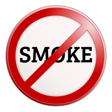 interdiction: No smoking sign. Vector illustration. Simple pictogram.