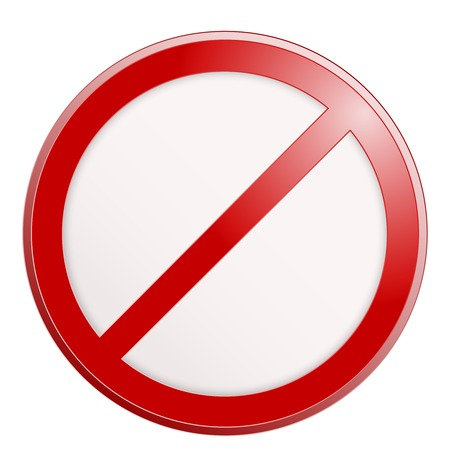 no sign: Stop sign. No sign template. Vector realistic illustration. Illustration