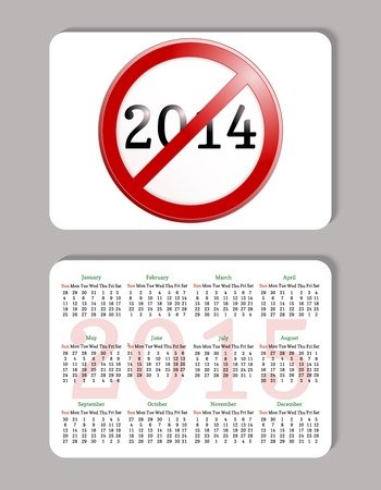 minimalistic: Pocket calendar in minimalistic style. Vector illustration.