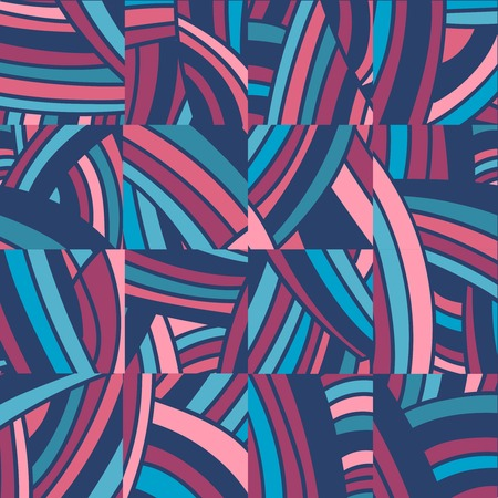 cuted: Colorful cuted into pieces doodle background.  Illustration