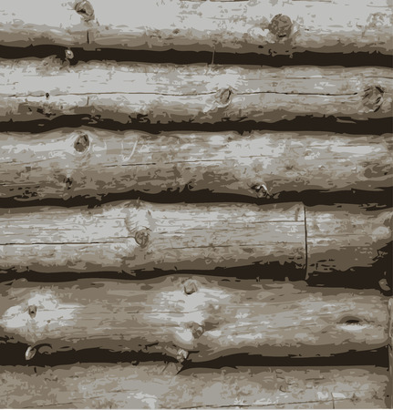 log wall: Vector natural wood background. Wooden texture illustration. Illustration