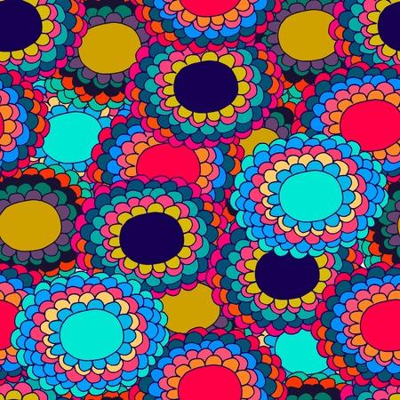 varicoloured: Varicoloured flower seamless pattern Illustration