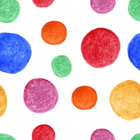 circle frames: Bright watercolor spots seamless pattern. Vector background. Watercolor blots are mixed between ourselves. Hand drawing. Vector illustration. Illustration