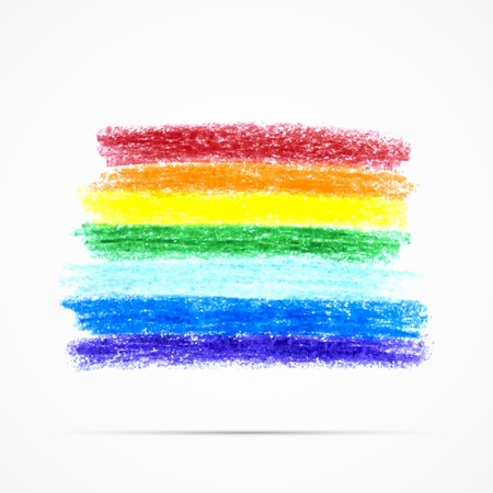 pencil texture: Pencil art object. Sketch design. Rainbow pencil texture. Grunge background. Vector illustration.