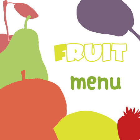 Fruits menu design template. Healthy food. Vector