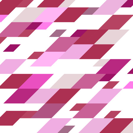 parallelogram: Abstract geometric vintage vector background. Illustration in shades of pink and violet.