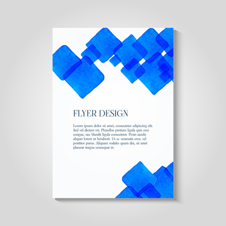 Watercolor Painted Background Design Business Corporate Brochure - Postcard flyer template