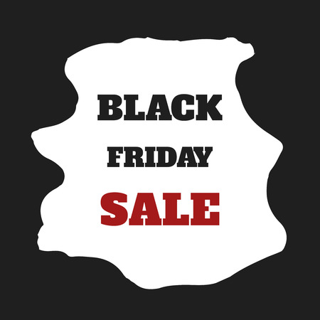 sell out: Black friday sale. Vector illustration. Clearance. Simple ad at watercolor frame. Can be used for placard, poster, flyer etc.