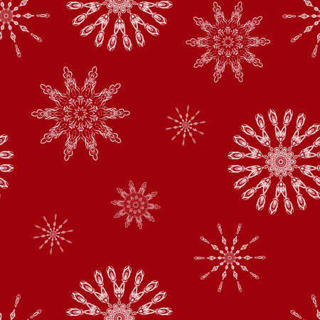 copied: Christmas seamless background with snowflakes. Illustration can be copied without any seams. Vector eps10.  Original background good for cards, posters, web design, textile print, banners etc.