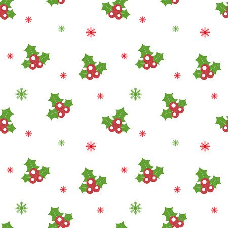 Seamless Christmas pattern. New Year theme. Background can be copied without any seams. Vector illustration. Winter endless texture can be used for printing onto fabric and paper or scrap booking.