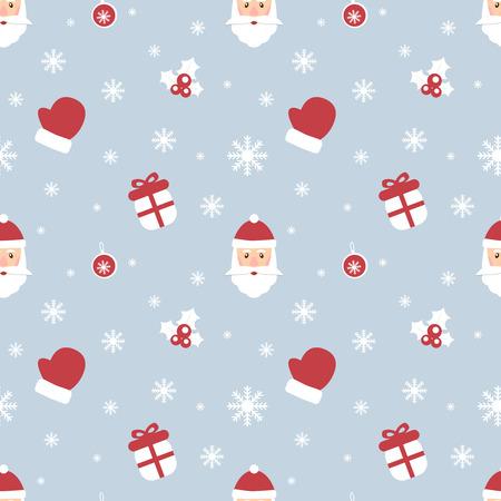 완벽 한 크리스마스 패턴입니다. 새해 테마. 배경은 솔기없이 복사 할 수 있습니다. 벡터 일러스트 레이 션. 겨울 무단 텍스쳐 직물, 종이 또는 스크랩