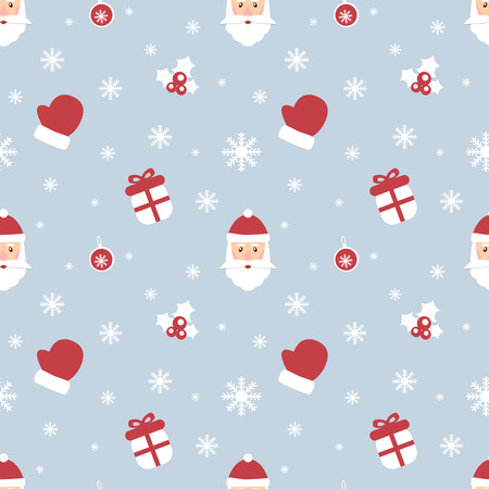 Seamless Christmas pattern. New Year theme. Backgrounds can be copied without any seams. Vector illustration. Winter endless texture can be used for printing onto fabric and paper or scrap booking.