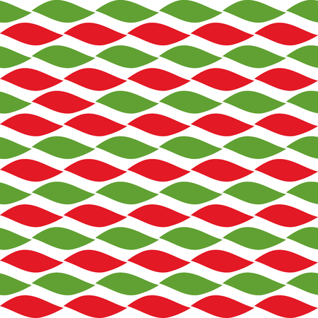 snow chain: Simple retro geometric Christmas pattern. Traditional colors. Background can be copied without any seams.Vector garland endless texture can be used for printing onto fabric and paper or scrap booking.