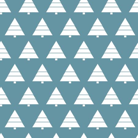 Simple retro Christmas pattern. Winter background. Endless textures in blue colors can be used for print on paper and fabric. Holiday. New Year theme. Vector illustration. 向量圖像