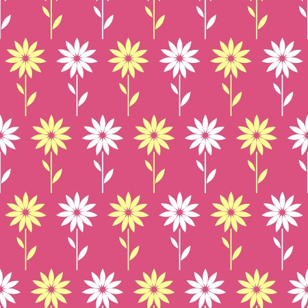 copied: Simple and beauty flower seamless pattern. Vector illustration good for textile and paper wrapping print. Can be copied without any seams. Abstract floral original background Illustration